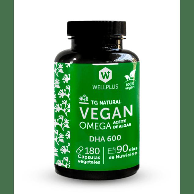Vegan Omega DHA 600 180 Cápsulas Vegano Wellplus