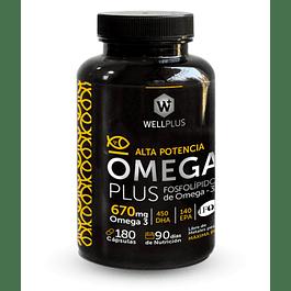 Omega Plus 670 180 Cápsulas  Wellplus