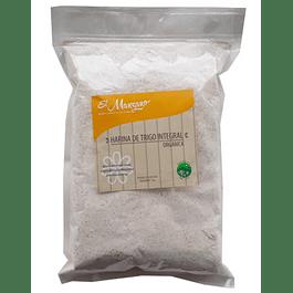 Harina de trigo integral 1kg Orgánico El Manzano