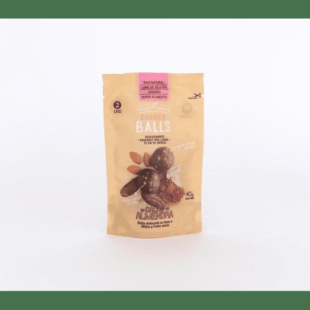 Energy Ball Cacao Almendra 40gr  Smart snack