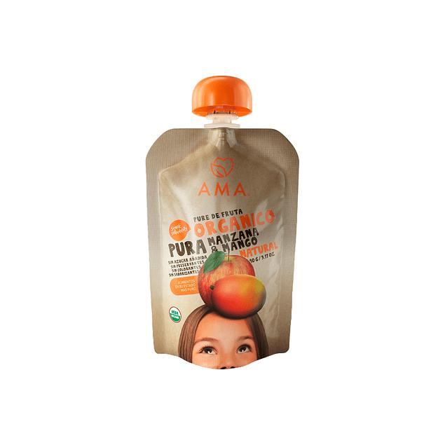 Papilla Manzana Mango 90gr Orgánico Ama