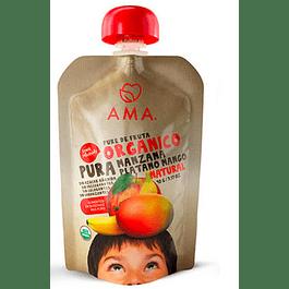 Papilla Manzana Platano Mango 90gr Orgánico Ama