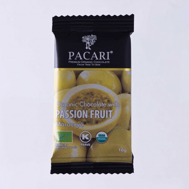 Chocolate Barra Pocket Maracuya 10gr Orgánico Pacari