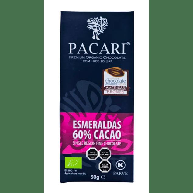 Chocolate Esmeralda 60% 50gr Orgánico Pacari