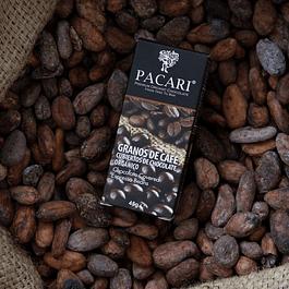 Granos de Café cubiertos de chocolate 57gr Orgánico Pacari