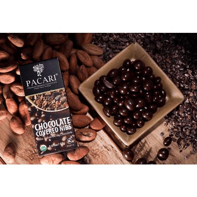 Nibs Cubiertos de chocolate 57gr Orgánico Pacari