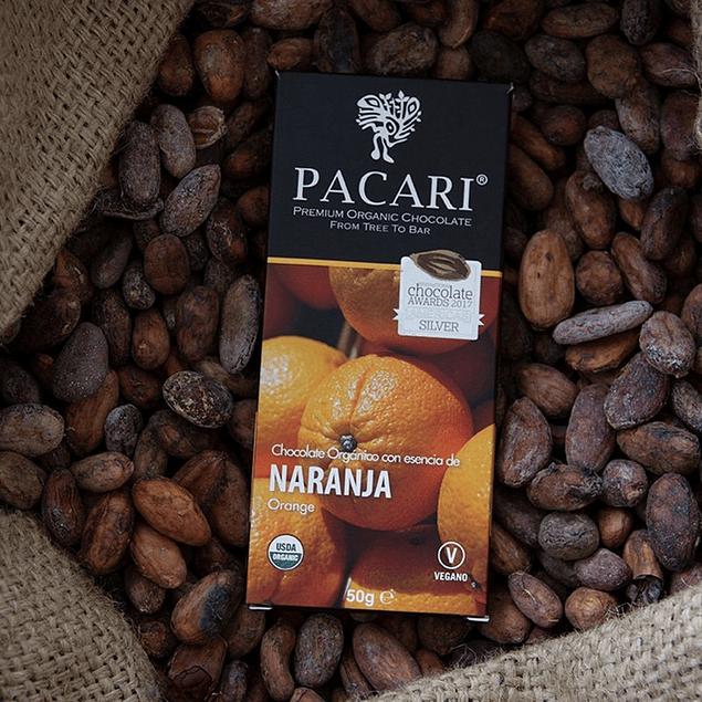 Chocolate Naranja 50gr Orgánico Pacari