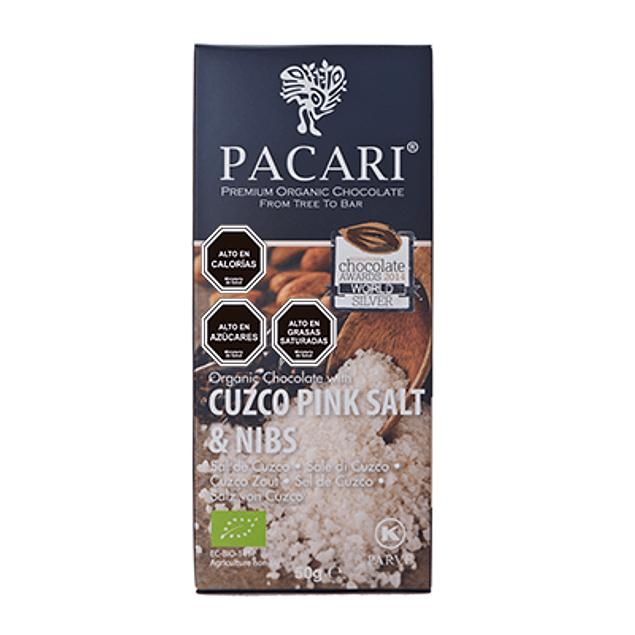 Chocolate Sal & Nibs 50gr Orgánico Pacari