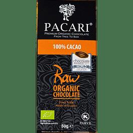 Chocolate Raw 100% 50gr Orgánico Pacari