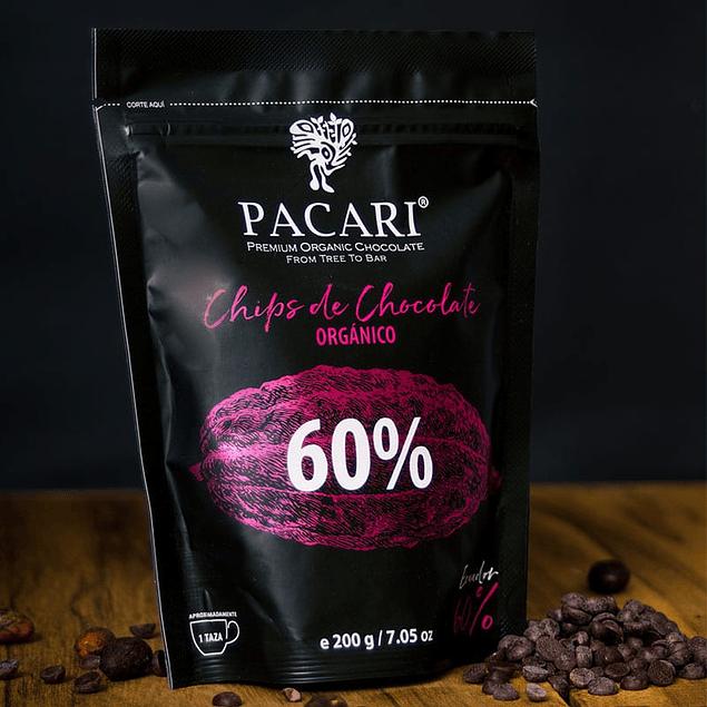 Chocolate Chips 60% 200gr Orgánico Pacari
