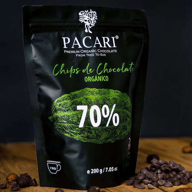 Chocolate Chips 70% 200gr Orgánico Pacari