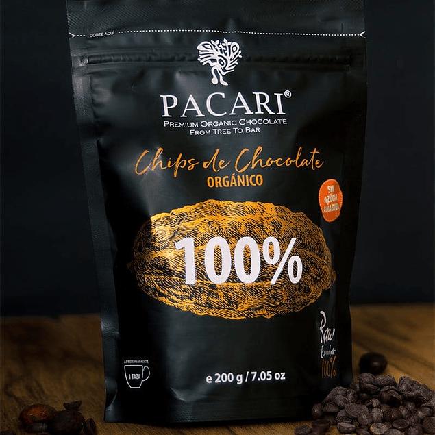 Chocolate Chips 100%  200gr Orgánico Pacari