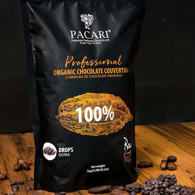 Chocolate Cobertura 100% 1kg Orgánico Pacari