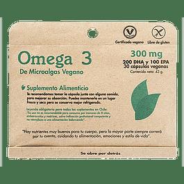 Omega 3 de microalgas 30 cápsulas  Dulzura Natural