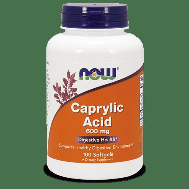 Acido Caprilico 600mg 100 capsulas  Now