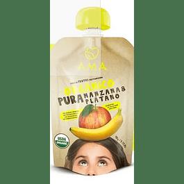 Papilla Manzana Platano 90gr Orgánico Ama