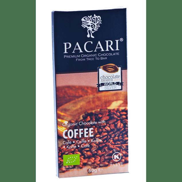 Chocolate Café 50gr Orgánico Pacari