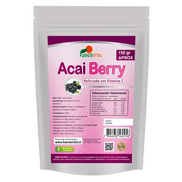 Acai Berry 150gr Polvo FuenteVital