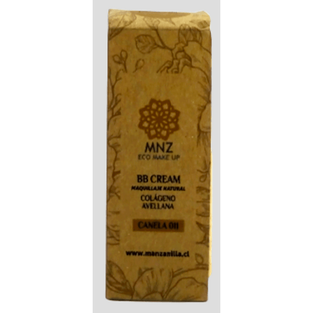 BB Cream Canela 30ml Cosmética natural MNZ