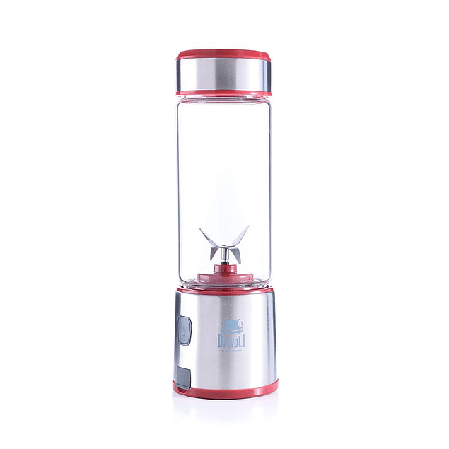 Licuadora personal porátil vaso de vidrio (Roja) Máquina Electrónica Davoli