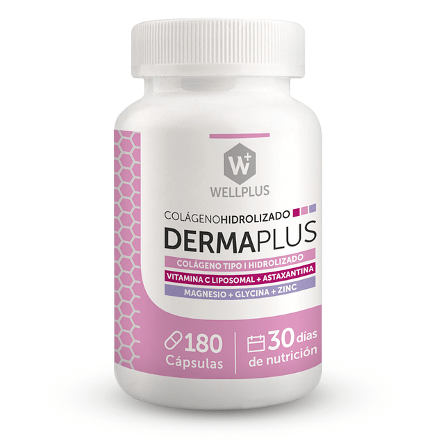 Derma plus 600mg 180 cápsulas  Wellplus