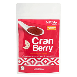 Cranberry 60gr Polvo Nativ for life