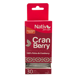 Cranberry 30 sachet 60gr Polvo Nativ for life