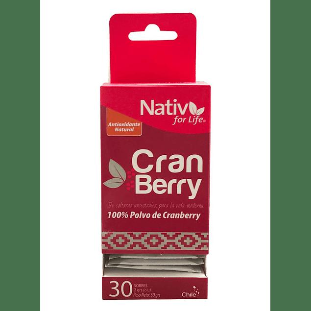 Cranberry 30 sachet 60gr Polvo Nativ for life