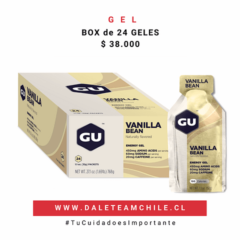 GU Original Energy Gels, BOX 24 Unidades