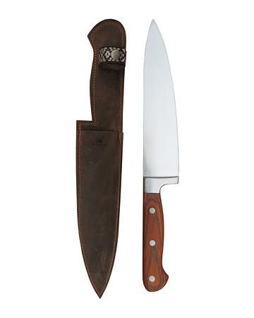 KNIFE WITH LEATHER CASE