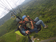 Paragliding in the Mirador del Quindío