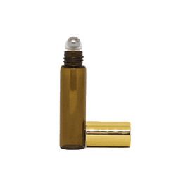Botella de vidrio roll-on 5 ml ámbar