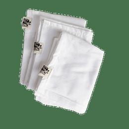 Pack 3 pañales de tela de algodón
