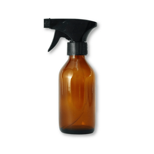 Botella de vidrio 200 ml con gatillo spray negro