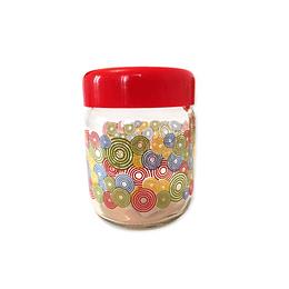 Frasco de vidrio diseño tapa roja 500 ml