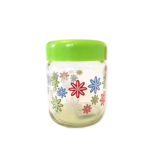Frasco de vidrio diseño tapa verde 500 ml