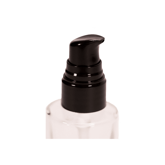 Botella de vidrio 50 ml con dispensador tipo bomba