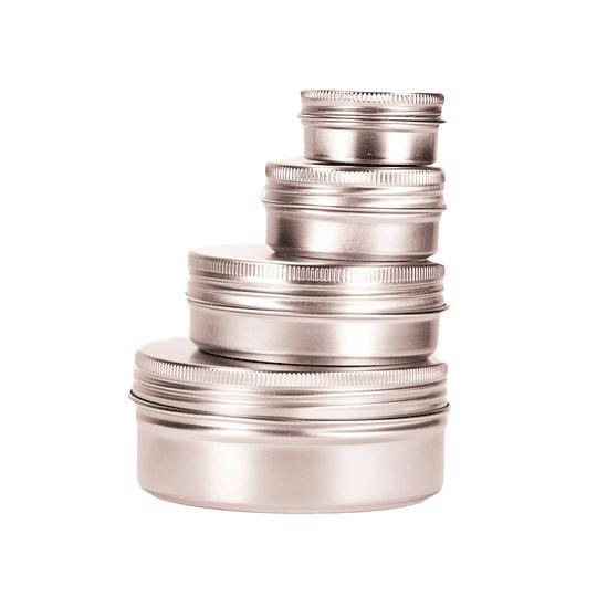 Frascos metálicos de aluminio cilíndrico