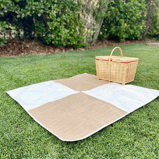 Manta picnic pequeña yute/lona