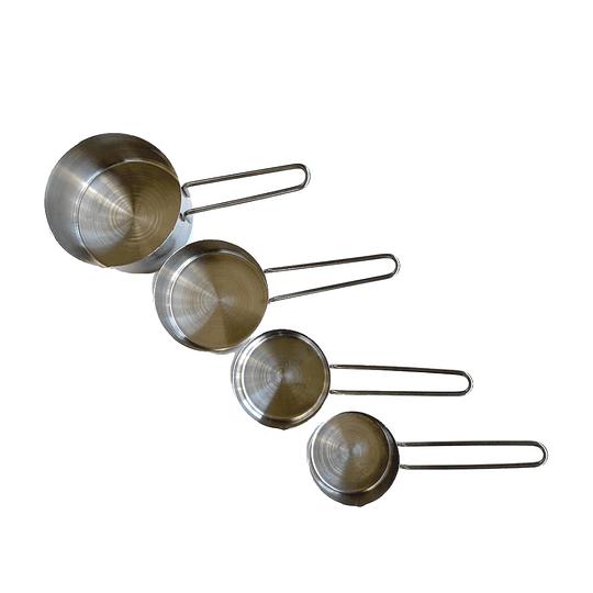 Set de 4 tazas medidoras metálicas