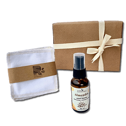 Kit de Regalo: Belleza Sustentable (Aceite de Almendra + Petalos desmaquillante)