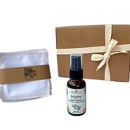 Kit de Regalo: Belleza Sustentable (Aceite de Jojoba + Petalos desmaquillante)