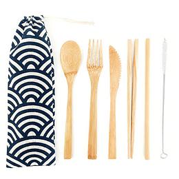 Juego de utensilios biodegradables 6 piezas