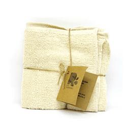 Pack 3 paños de toalla algodón crudo