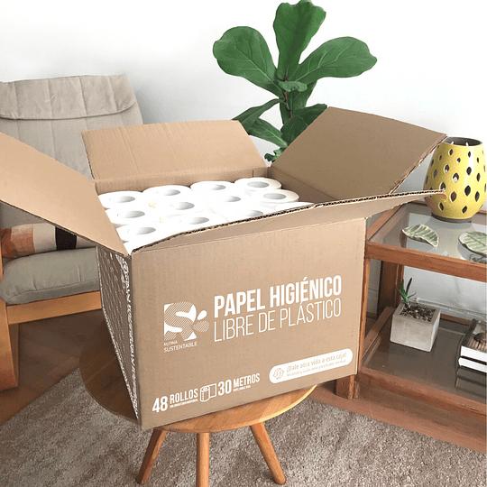 Papel higiénico sin plástico / caja 48 rollos