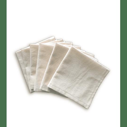 Pack 6 servilletas reutilizables pequeñas
