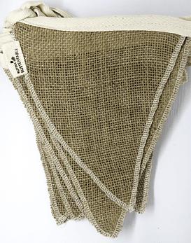 Banderín decorativo reutilizable arpillera