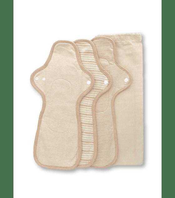 Toalla femenina algodón orgánico XL