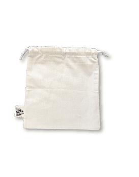 Bolsa tipo saco algodón crudo - Mediana