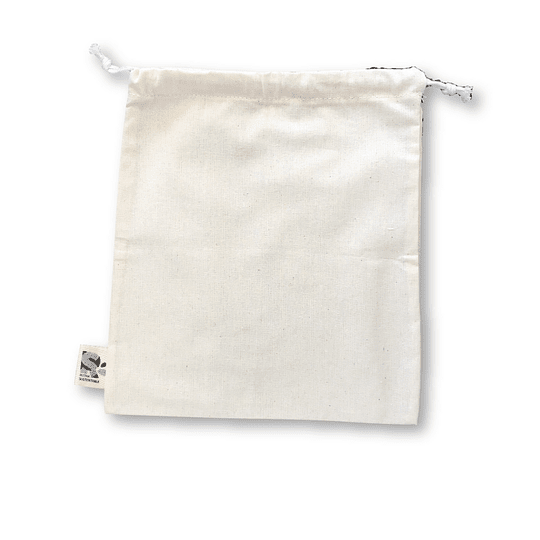 Bolsa tipo saco algodón crudo - Grande